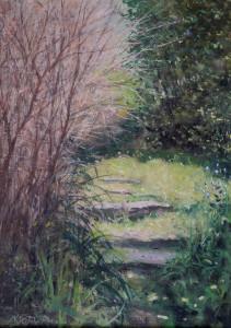 Garden steps,Spring