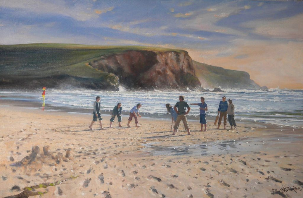 a family commission on a North Cornwall beach